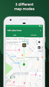 screenshot of 100% Qibla Finder version 1.2.27