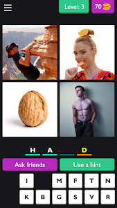 screenshot of ?4 Pics 4 Letter Word: Puzzle?? version 3.3.8z