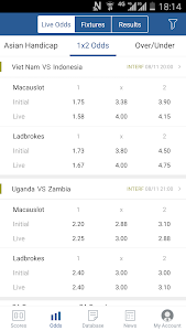 screenshot of 7M Live Scores Pro - News&Data version 1.8.4