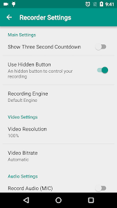screenshot of ADV Screen Recorder version 3.7.2