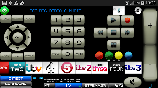 screenshot of AVR remote for Arcam Receivers version Cow V3.40