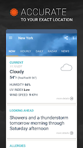 screenshot of AccuWeather: Weather Tracker & Live Forecast Maps version Varies with device