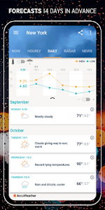 screenshot of AccuWeather: Live local weather forecast & alerts version Varies with device