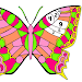 Butterfly Paint by Number Book - Animals Coloring