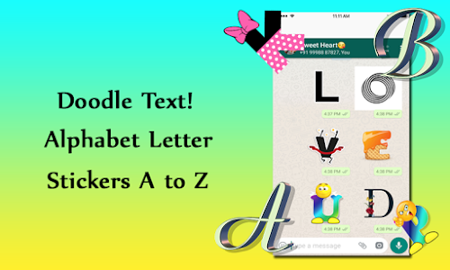 screenshot of Alphabet stickers Doodle Text version 1.2