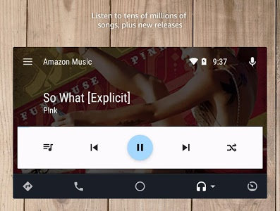 screenshot of Amazon Music version Varies with device