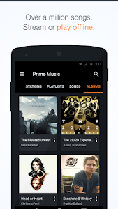 screenshot of Amazon Music with Prime Music version 4.4.5