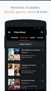 screenshot of Amazon Music with Prime Music version 4.6.2