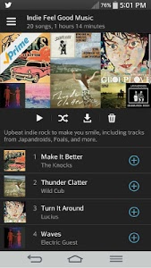 screenshot of Amazon Music with Prime Music version 4.50.1_4500110 bld16
