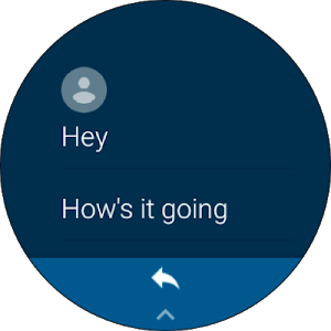 screenshot of Android Messages version Varies with device