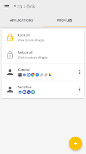 screenshot of App Lock version 5.4