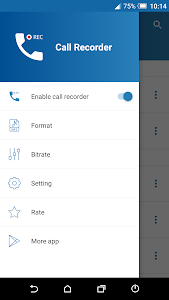 screenshot of Call Recorder version 1.5.4