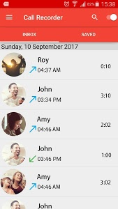 screenshot of Automatic Call Recorder version 1.0.0