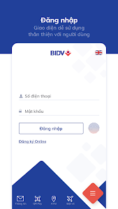 screenshot of BIDV Smart Banking version 3.8.0.0