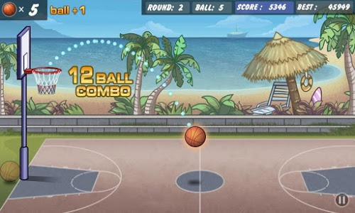 screenshot of Basketball Shoot version 1.19.40