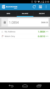 screenshot of Bitcoin Wallet version 4.0.20
