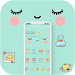 Download Blue Cute Cartoon Sweet Face Theme 1.1.6 APK