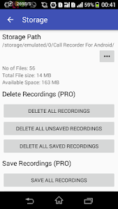 screenshot of Call Recorder for Android version 9.5