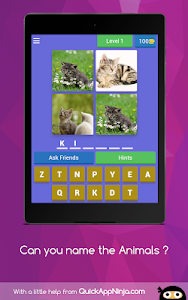 screenshot of Can you name the animals ? version 4.6.0z