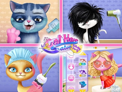 screenshot of Cat Hair Salon Birthday Party - Kitty Haircut Care version 1.0.41