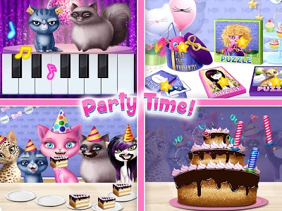 screenshot of Cat Hair Salon Birthday Party - Kitty Haircut Care version 1.0.51