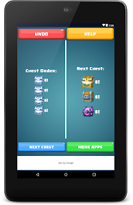 screenshot of Chest Tracker for Clash Royale version 1.5
