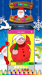 screenshot of Christmas Coloring Book version 1.7
