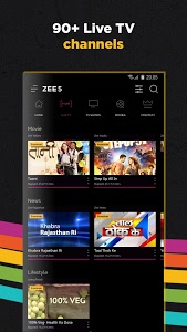 screenshot of ZEE5 - Movies, TV Shows, LIVE TV & Originals version 11.2.96