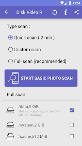 screenshot of Disk Video Recovery Pro version 1.3