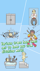 screenshot of Ditching Work -room escape game version 2.9.1