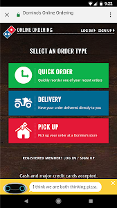 screenshot of Domino's Offers version Varies with device