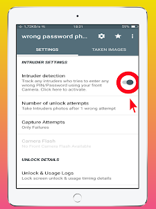 screenshot of Don't Touch My Phone-wrong password photo captur version 21.0
