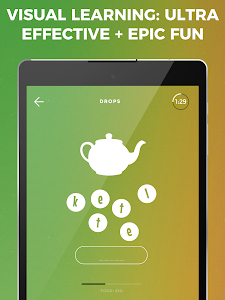 screenshot of Drops: Learn French language vocabulary & spelling version 34.4
