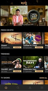 screenshot of EPIC ON - Watch TV Shows, Specials, Shorts & Video version Varies with device