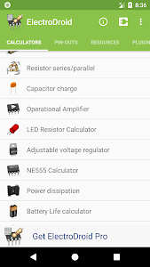 screenshot of Electrodroid - electronics in your hand version 4.8.1