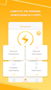 screenshot of FlashCash-Quick and Easy Personal Loans version 0.7.15