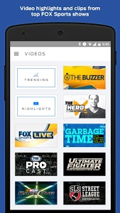 screenshot of FOX Sports Mobile version 3.5.7