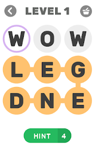 screenshot of Find The Words Puzzle game version 1.2.9z