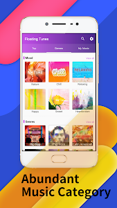 screenshot of Floating Tunes-Free Music Video Player version 3.5.0