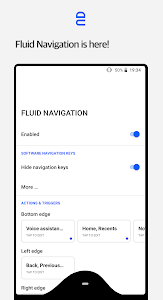 screenshot of Fluid Navigation Gestures version 1.4.6
