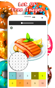 screenshot of Food Coloring Game - Color By Number version 2.0