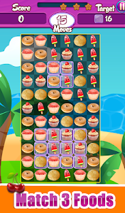 screenshot of Food Match 3 Cookie Rush 2019 Puzzle Free Games version 1.0.6