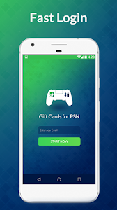 screenshot of Free Gift Cards for PSN version 2.3.2