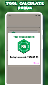 screenshot of Free Robux Calculator For Roblox version 1.0