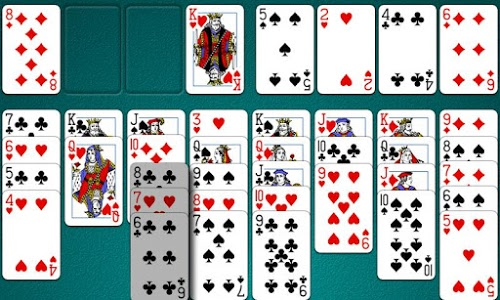 screenshot of FreeCell Solitaire version 5.0.2