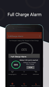 screenshot of Full Charge Alarm version 4.3.9