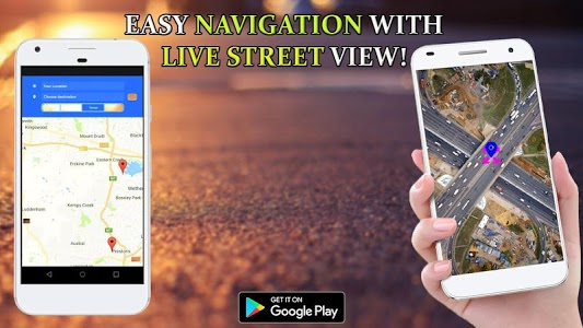 screenshot of GPS Live Street View and Travel Navigation Maps version 1.0.6