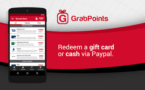 screenshot of GrabPoints - Free Gift Cards version 1.36