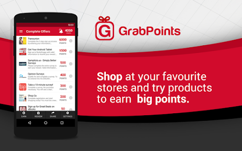 screenshot of GrabPoints - Free Gift Cards version 1.52
