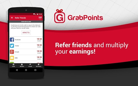 screenshot of GrabPoints - Free Gift Cards version 1.6